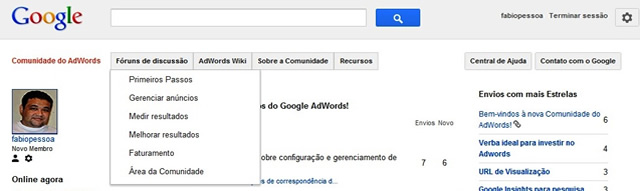 Recursos da Comunidade do Adwords